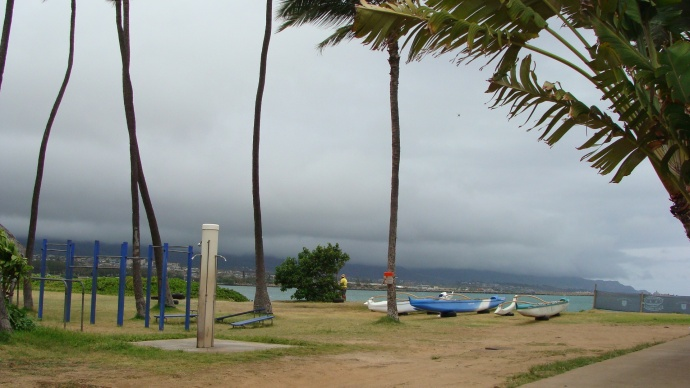 Kahului Harbor at the Hawaiian Canoe Club. Photo by Wendy Osher.