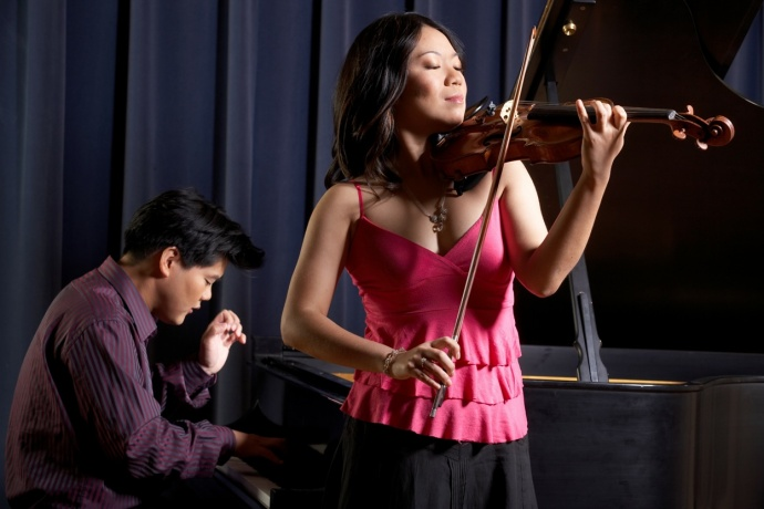 Minghuan Xu, violin, and Winston Choi, piano. Courtesy photo