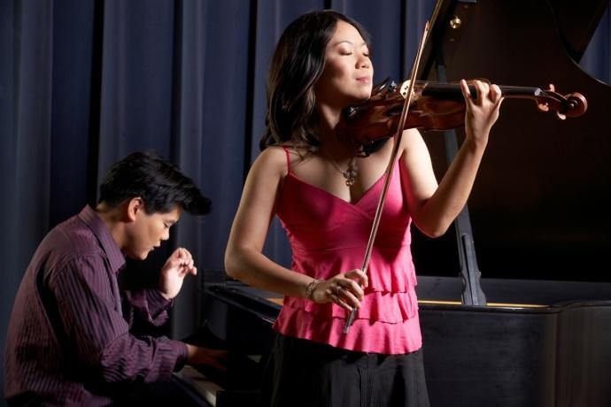 Minghuan Xu, violin, and Winston Choi, piano. Courtesy photo