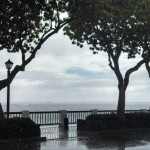 Flossie brings heavy rains to Front Street in Lahaina. Photo by Lisa Puaa.