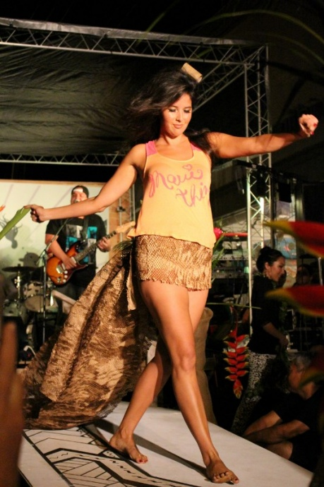 Maui Thing 5th Anniversary fashion show featuring The Green. Photo by Wendy Osher.