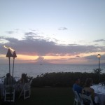 The setting for the Makena Beach & Golf Resort dinner. Photo by Vanessa Wolf