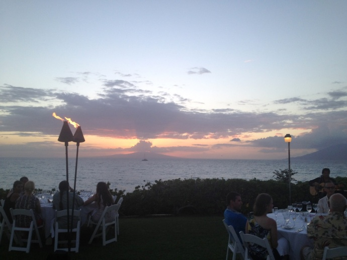 The setting for the Makena Beach & Golf Resort dinner. Photo by Vanessa Wolf