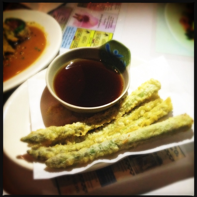 The Tempura Asparagus. Photo by Vanessa Wolf