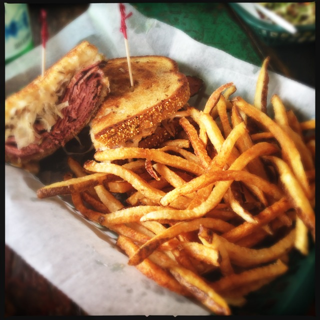 The Rueben and a side of fries. Photo by Vanessa Wolf
