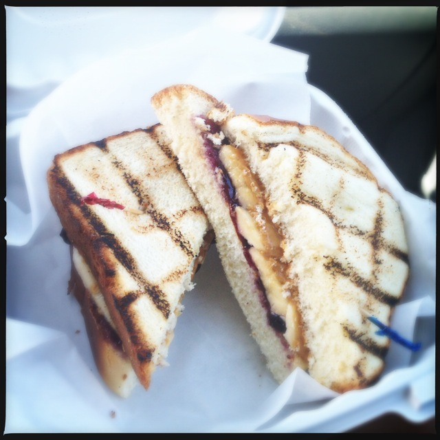 The Grilled Peanut Butter Jelly and Banana makes you go hmmmm. Photo by Vanessa Wolf