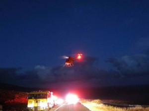 Kaupō fire, courtesy Kimberley Mullen Maui Department of Fire and Public Safety. (July 13-18, 2013)