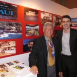 Tom Tezak (left) of Wailea Realty met with Luxury Properties Showcase Beijing 2013, Sales & Marketing Manager Alex Bena during the prestigious three-day exhibition. Courtesy photo.