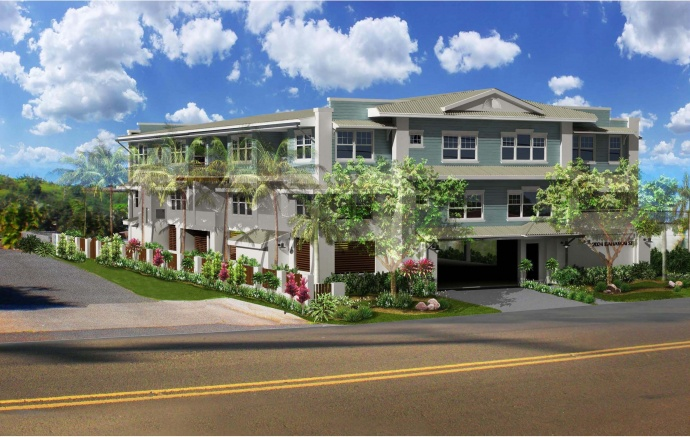 Rendering image, courtesy Habitat for Humanity, Maui.
