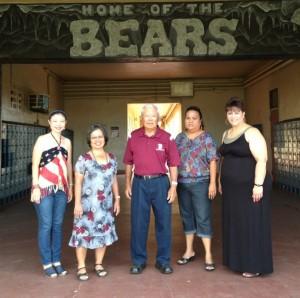 BHS 75th Anniversary co-chairs: (from left), Lynn Araki-Regan, Ann Arakawa, Wallace Fujii, Terry Miller and Amanda Martin. Courtesy photo.