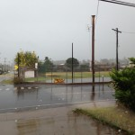 Winds from Flossie blew the EAS siren off of its pole near Waiheʻe Ball Park. Photo courtesy Jen Ahia.