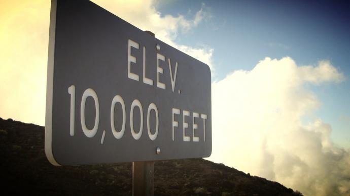 Haleakalā 10,000 foot elevation, photo by Wendy Osher.