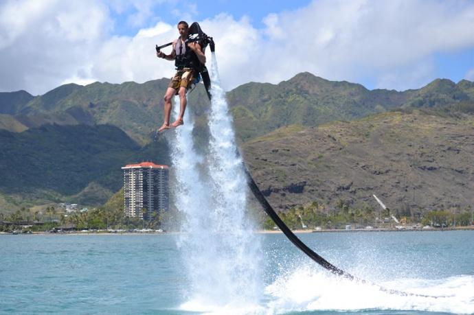 Jet pack, courtesy photo Courtney/Jeff Krantz of H2O Sports in Hawaii Kai, O'ahu.