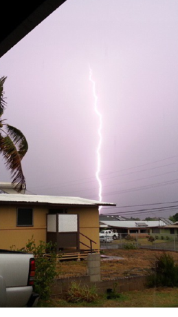 Lightning over Kahului, 7/29/13. File photo courtesy Bobbi-Lin Kalama.