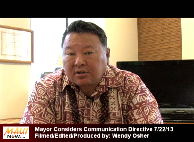 Maui Mayor Alan Arakawa, July 22, 2013. Photo by Wendy Osher.