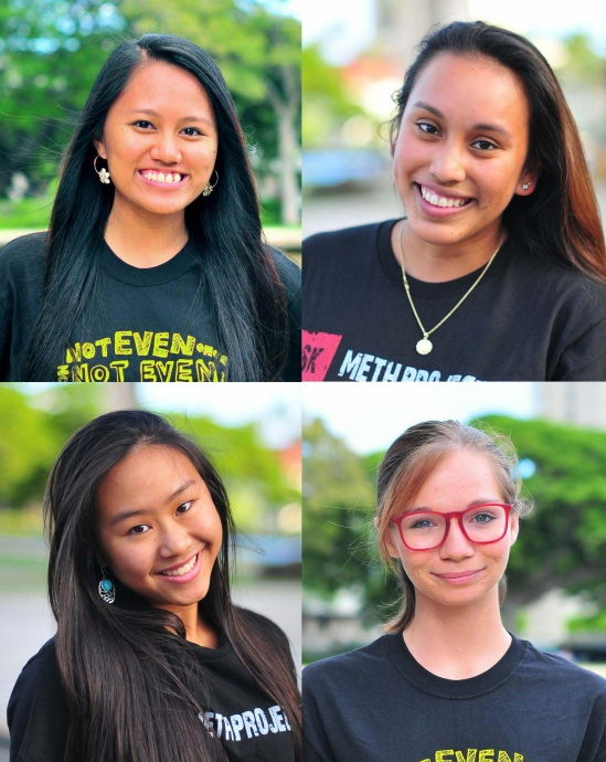 Teen council members from Maui (pictured clockwise from top left): Alicia Huliganga; Oksana Gil; Rachel Nguyen; and McKayla Wandell. Courtesy photos.
