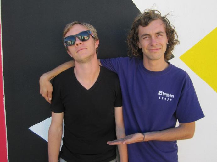 Bryan Bangerter, filmmaker and Wes Bruce, artist. Courtesy photo