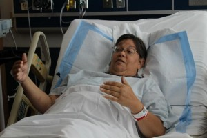 Evonne Cashman, was suffered injuries from a shark attack at Ulua Beach in South Maui on Wednesday, July 31, 2013. Photo by Wendy Osher.