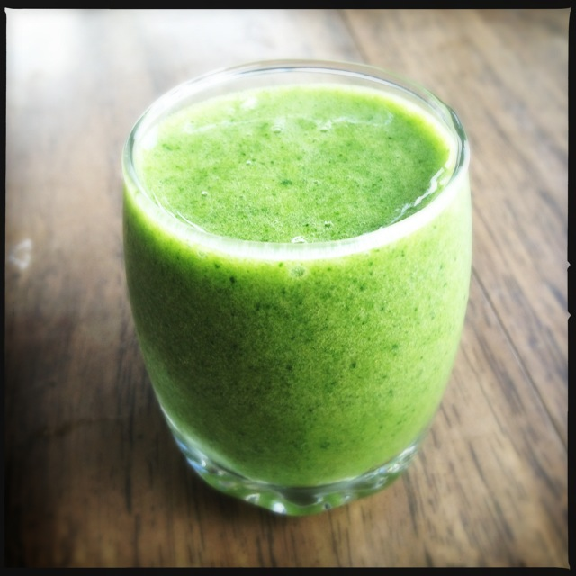 The Green Power Smoothie. Bring some Altoids. Photo by Vanessa Wolf