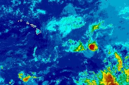 Tropical Storm Henriette, a.m. 8/9/13. Image courtesy NOAA/NWS/CPHC.