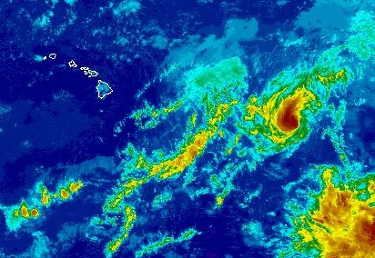 Henriette satellite imagery as of 4:30 p.m. on Thursday, Aug. 8, 2013. Image courtesy NOAA/NWS/CPHC.