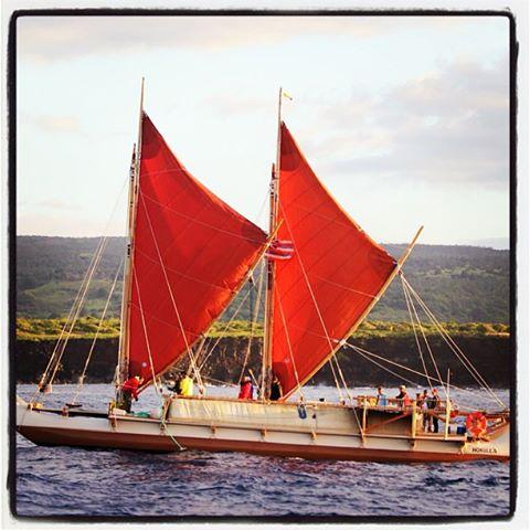 Hōkūleʻa image courtesy Surfrider Foundation Maui Chapter.