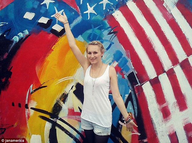Jana Lutteropp, 20, in a photo obtained from her blog.