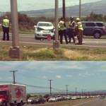 Māʻalaea traffic accident, 8/7/13. Photo courtesy, Kaniala Masoe.