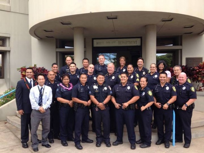 2nd Class - MPD Crisis Intervention Team, 8/9/13. Photo courtesy Dr. Dara Rampersad, forensic coordinator of the Maui Community Health Center, who served as a trainer for the program.