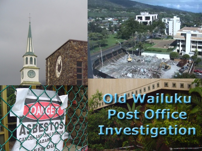 Old Wailuku Post Office investigation montage by Wendy Osher.