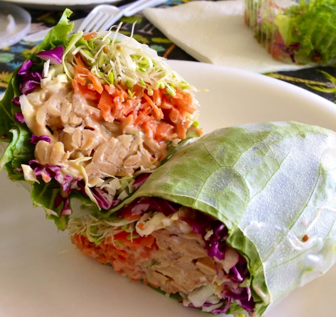 The Indo Crunch Collard Wrap. Photo by Vanessa Wolf