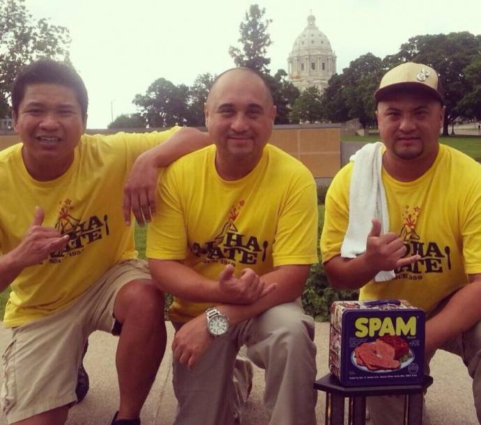 Aloha Plate team featuring Shawn Felipe (left) Lanai Tabura (middle) and Adam Tabura (right). Photo courtesy Adam Tabura.