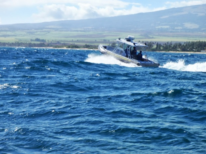 DLNR Fisheries Enforcement Officers on patrol. Courtesy photo DLNR.