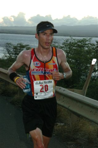 A runner in a previous marathon. Photo courtesy Maui Marathon