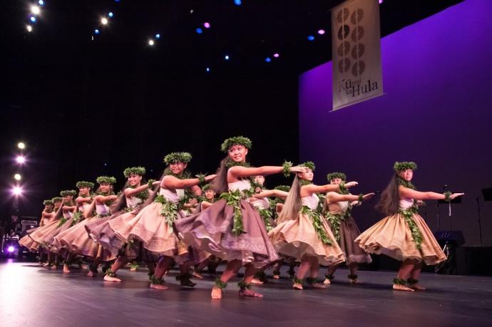 Halau NaLeiKaumaka O Uka performs at 2012's KuMaiKa Hula.Courtesy photo