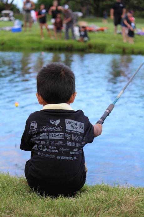 2013 Keiki Tilapia Fishing Tournament. Photo by Wendy Osher.
