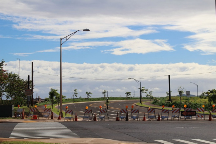 Maui Business Park road opening. Photo by Wendy Osher.