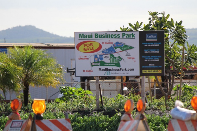 Maui Business Park road opening. File photo by Wendy Osher.