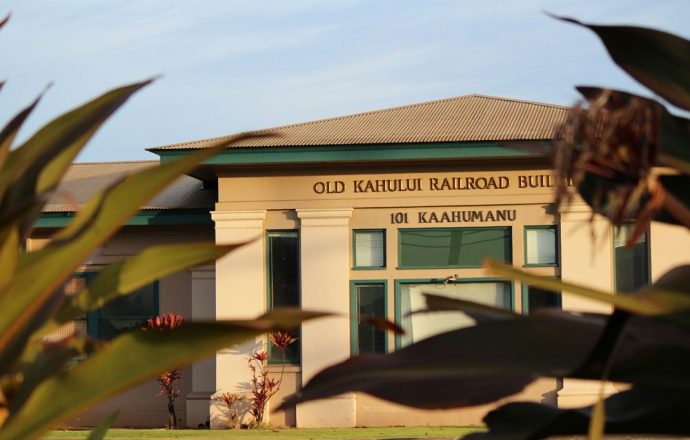 Old Kahului Railroad Building. Photo by Wendy Osher.