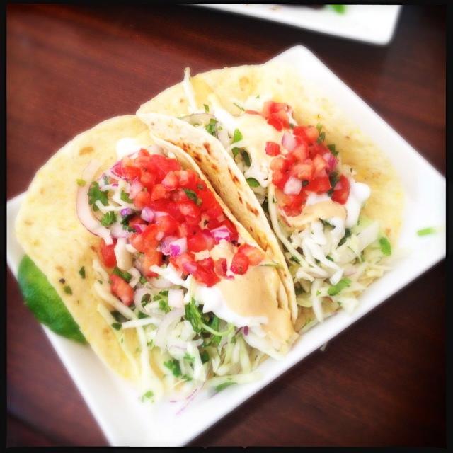 The ahi tuna tacos need work. Photo by Vanessa Wolf