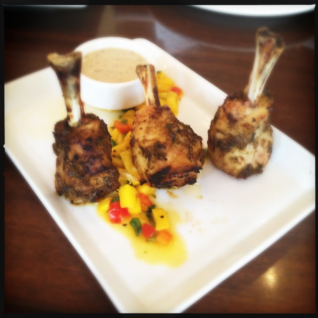The chicken lollipops. Order these. Photo by Vanessa Wolf