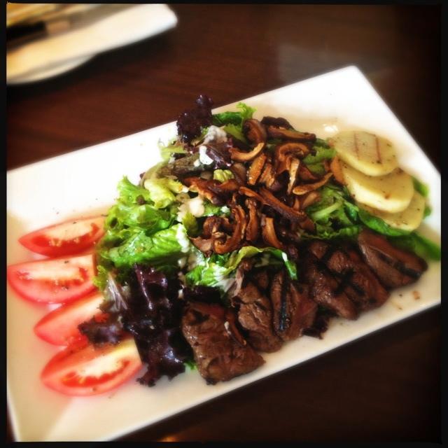 The steak salad. Photo by Vanessa Wolf