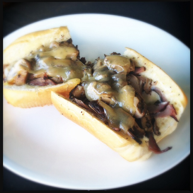 The Shiitake Beef Melt. Photo by Vanessa Wolf