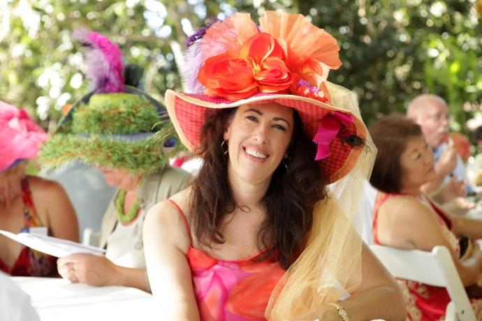 Julie Patterson rocks a crazy Mad Hatter chapeau. Photo courtesy MAPA.