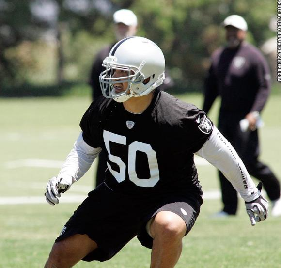 Maui's Kaluka Maiava is No. 50 on this year's Oakland Raiders' roster. Photo by Tony Gonzales.