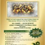Lana'i Nakoa Rams Host Chiefs on Saturday