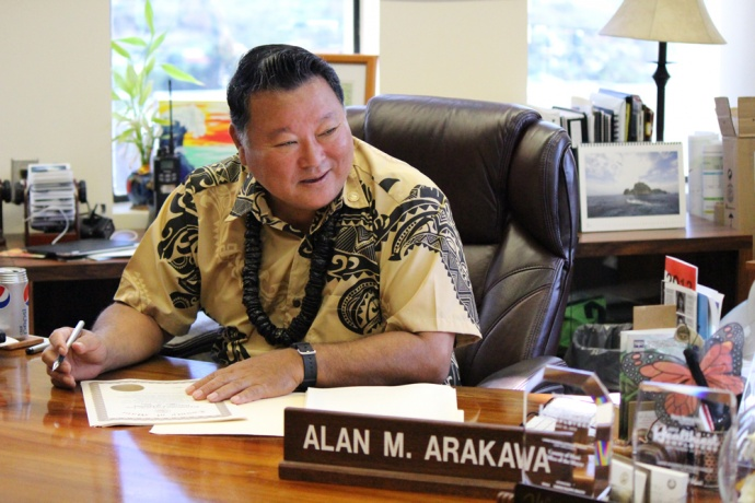 Maui Mayor Alan Arakawa, photo by Wendy Osher. Sept. 23, 2013.