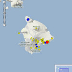 Hawaiʻi Earthquake, 9/26/13. Image courtesy HVO and Google maps.