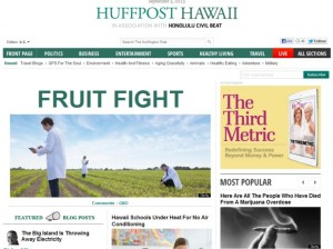 HuffPost Hawaii's front page.