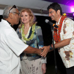 Arianna Huffington and Pierre Omidyar (left) at the Maui launch party for Huffpost Hawaii. Courtesy photo.